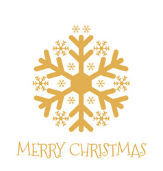 merry christmas greeting card with xmas bauble vector image