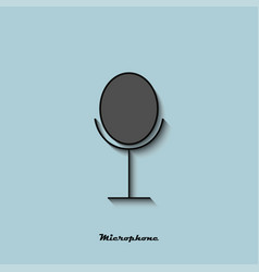 microphone of black and gray color with a shadow vector image