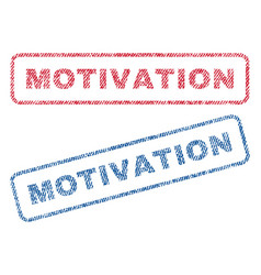 Motivation textile stamps vector