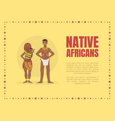 native africans banner template with tribal people vector image