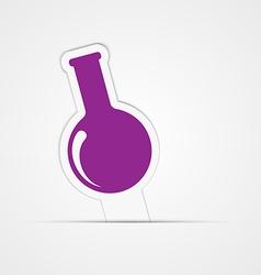 Paper sticker Test tube for biology or chemistry vector image