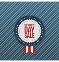 Presidents Day Sale realistic Label with Ribbon vector image