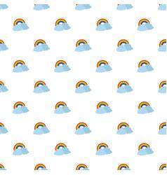 rainbow pattern seamless vector image