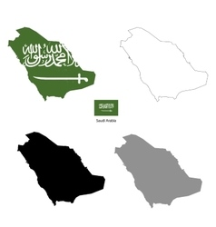 Saudi arabia country black silhouette vector