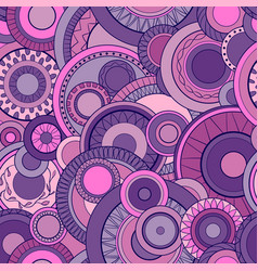 seamless background with abstract circles vector image