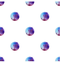 Seamless pattern of watercolor blue spots vector