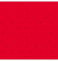 seamless red pattern with hearts vector image