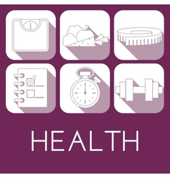 set of health icon in flat style vector image