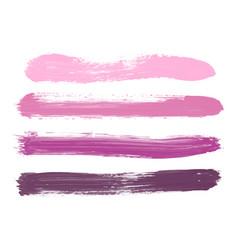 set pink lilac rose violet watercolor stripes vector image
