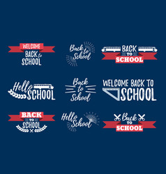 Set school typographic - vintage style vector