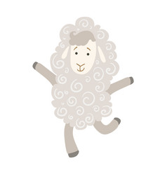 sheep cute toy animal with detailed elements part vector image