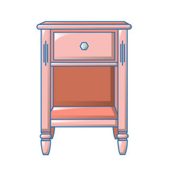 Small bedside table icon cartoon style vector