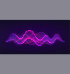 sound wave with imitation of voice sound concept vector image