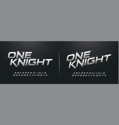 sport modern alphabet fonts technology typography vector image