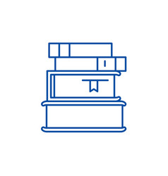 stack of books line icon concept stack of books vector image