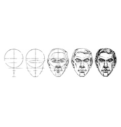 Step by step drawing tutorial vector