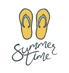 summer time flip flops vector image