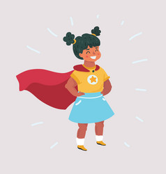 Super hero girl vector
