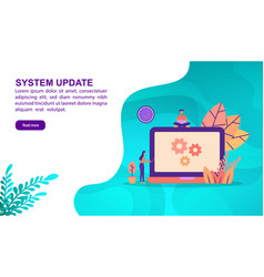 System update concept with character template for vector