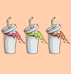 three mouth watering juice vector image
