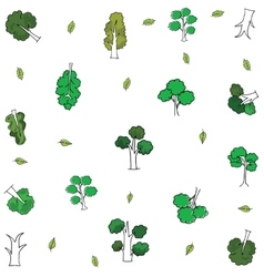 Tree and leaf in doodles vector