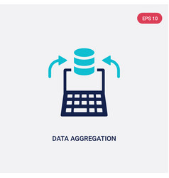 two color data aggregation icon from general-1 vector image