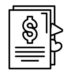 vlog money contract icon outline style vector image