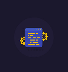web optimization development and programming icon vector image