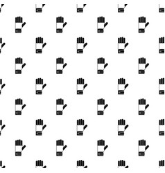 winter gloves pattern seamless vector image