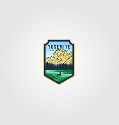 Yosemite national park logo outdoor design vector