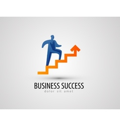 business logo design template success or progress vector image