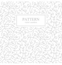 curve seamless pattern retro fashion vector image vector image