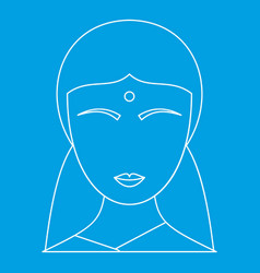 indian woman icon outline style vector image vector image