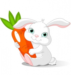 rabbit holds carrot vector image vector image