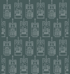 seamless military pattern with tanks vector image vector image