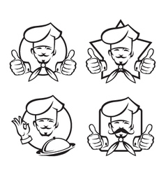 set of chef design vector image vector image
