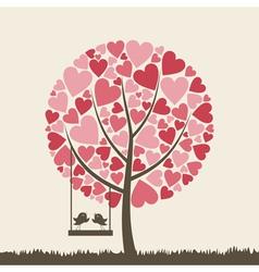 Bird of love6 vector image