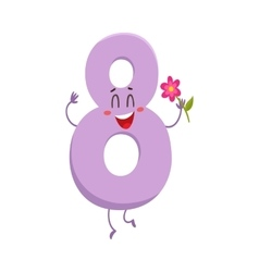 Cute and funny colorful 8 number characters vector image