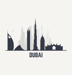 Dubai black view vector image