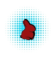 Easter bunny icon comics style vector image