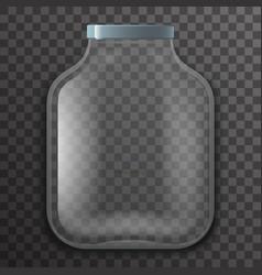 empty glass pot jar sign transparent background vector image vector image