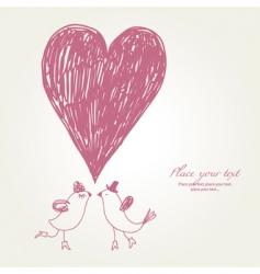 greeting card hand drawn vector image