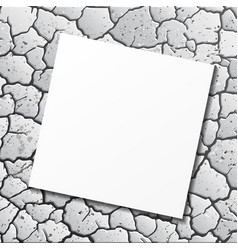 ground cracks with paper vector image