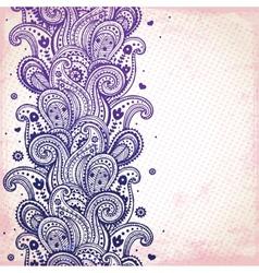 Purple ornament vector image