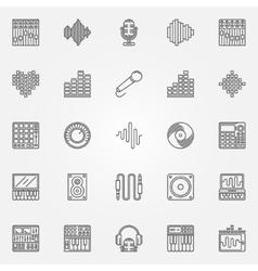Recording studio icons set vector image vector image