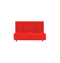 red sofa or couch living room or office interior vector image