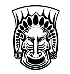 religious mask vector image vector image
