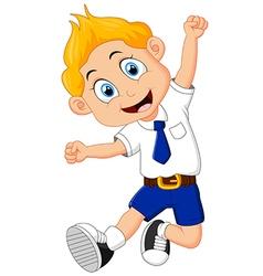 Cartoon school children vector image