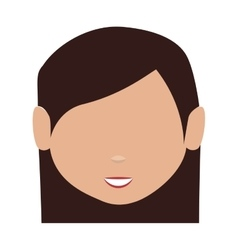 head young woman isolated icon vector image