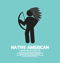 Native American With Weapon Black Symbol Graphic vector image vector image